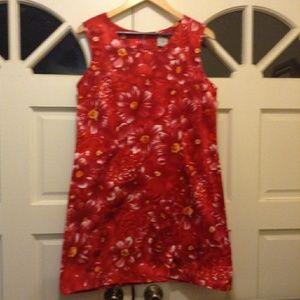 Summer Hibiscus Dress Red